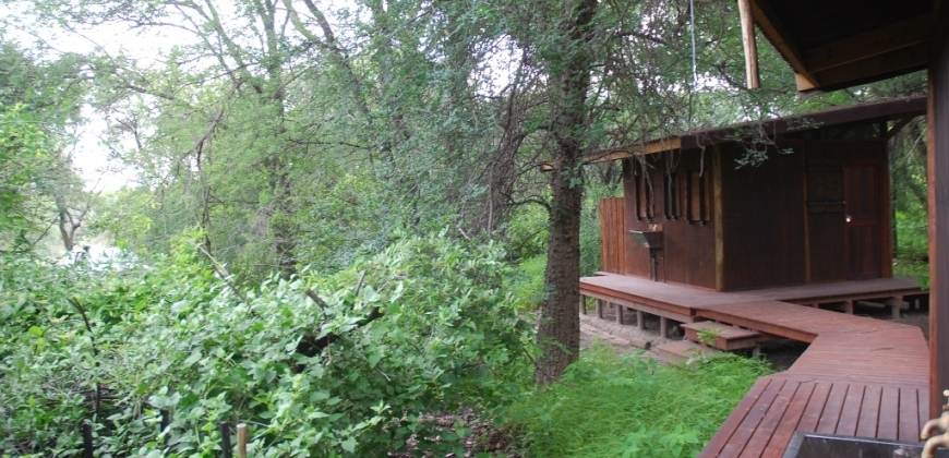 Wooden walkway to a cabin