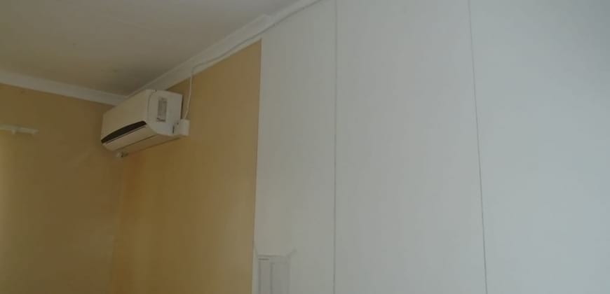 Bedroom with AC unit