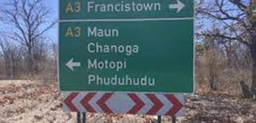 sign board for the location
