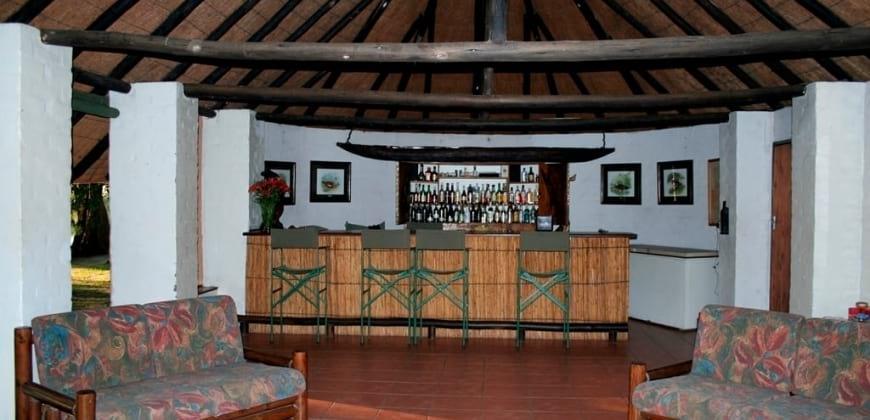 Interior of  bar restaurant area